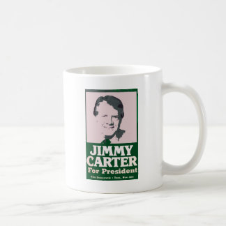 Jimmy Carter Distressed Cut Out Look Classic White Coffee Mug