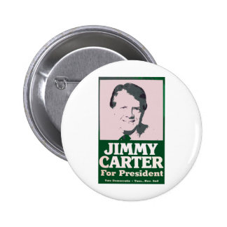 Jimmy Carter Distressed Cut Out Look Pinback Button