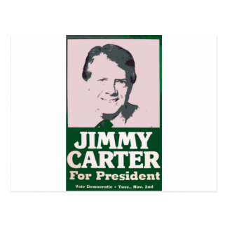 Jimmy Carter Distressed Cut Out Look Postcard