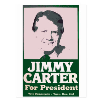 Jimmy Carter Distressed Cut Out Look Postcards