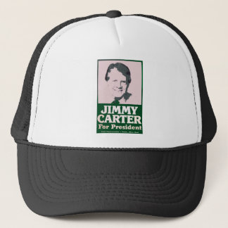 Jimmy Carter Distressed Cut Out Look Trucker Hat