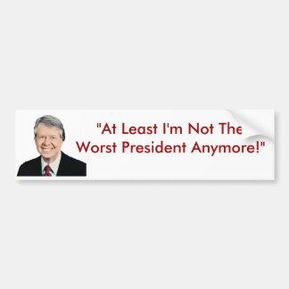 Jimmy Carter no el presidente peor Anymore Pegatina De Parachoque