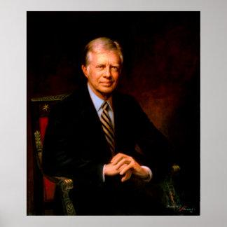 JIMMY CARTER Portrait by Herbert E. Abrams Poster