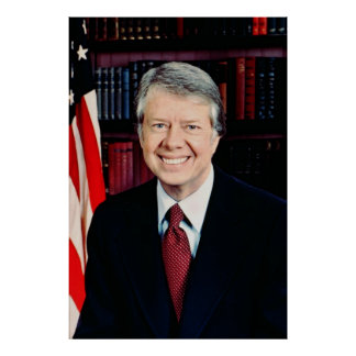 Jimmy Carter US president Poster