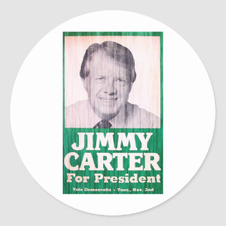 Jimmy Carter Vintage Classic Round Sticker