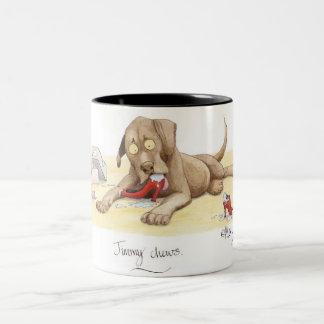 'Jimmy chews' Mug. Two-Tone Coffee Mug