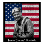 Jimmy Doolittle y la bandera americana Impresiones