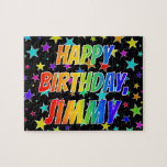 """[ Thumbnail: """"Jimmy"""" First Name, Fun """"Happy Birthday"""" Jigsaw Puzzle ]"""