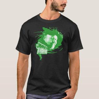 Jimmy Haha Splash Green on Black T T-Shirt