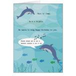 Jimmy la tarjeta de cumpleaños del delfín