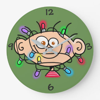 """Jimmy """"Light Up Your Christmas""""  Clock"""