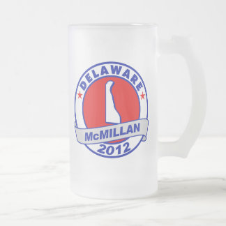 Jimmy McMillan Delaware 16 Oz Frosted Glass Beer Mug