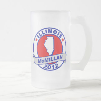 Jimmy McMillan Illinois 16 Oz Frosted Glass Beer Mug