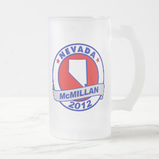 Jimmy McMillan Nevada 16 Oz Frosted Glass Beer Mug