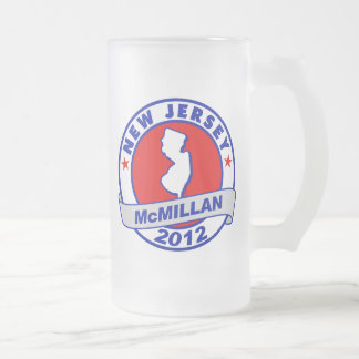 Jimmy McMillan New Jersey 16 Oz Frosted Glass Beer Mug