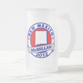Jimmy McMillan New Mexico 16 Oz Frosted Glass Beer Mug