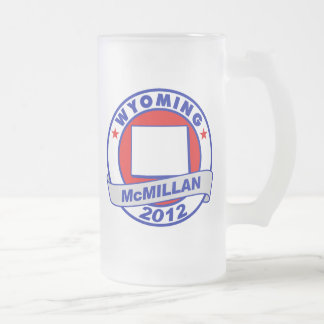 Jimmy McMillan Wyoming 16 Oz Frosted Glass Beer Mug