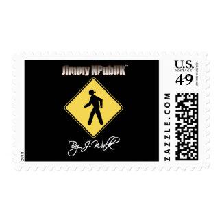 Jimmy NPubliK Logo Black Postage Stamp