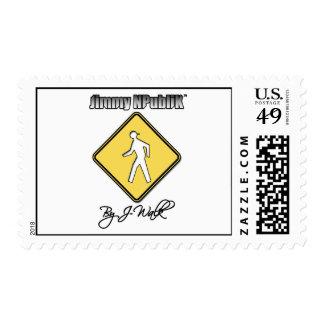 Jimmy NPubliK Logo White Postage Stamp