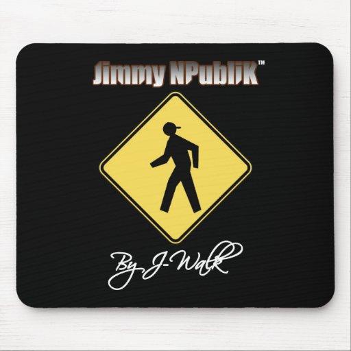Jimmy NPubliK Mousepad negro Alfombrilla De Ratones