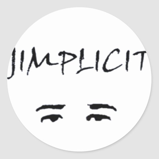 Jimplicit Logo Classic Round Sticker