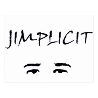 Jimplicit Logo Postcard
