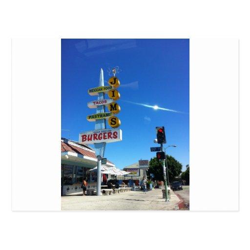 jim's burgers east los angeles photo by sludge postcard