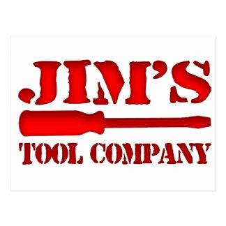 Jim's Tool Company Postcard