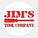 Jim's Tool Company Stickers