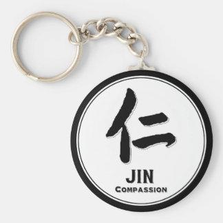 JIN Compassion bushido virtue samurai kanji Keychain
