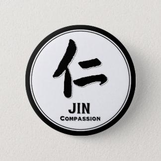 JIN compassion bushido virtue samurai kanji Pinback Button