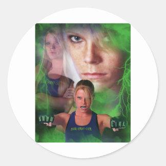 "Jina ""The Showgirl"" Cole Classic Round Sticker"