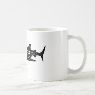 jinbeizame whale shark and rhincodon typus cutting classic white coffee mug