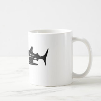 jinbeizame whale shark and rhincodon typus cutting coffee mug