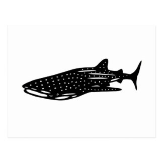 jinbeizame whale shark and rhincodon typus cutting postcard