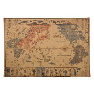 Jinbutsu 1850 de Bankoku ninguna gente del zu de Mantel
