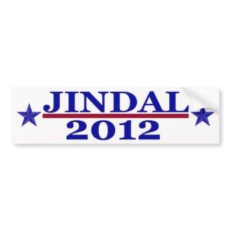 Jindal 2012 Bumper Sticker bumpersticker