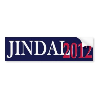 Jindal 2012 bumper sticker simple I bumpersticker