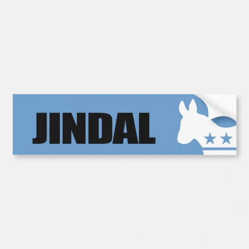 Jindal para el presidente pegatina para auto
