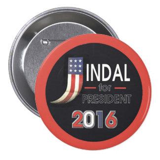 Jindal para el presidente pin redondo de 3 pulgadas