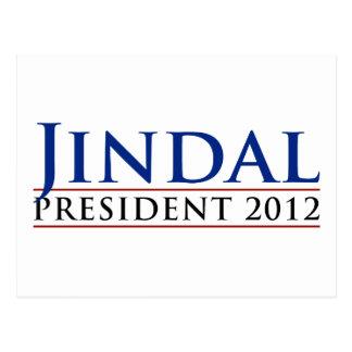 Jindal President 2012 Postcard