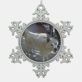 jindo full 2.png snowflake pewter christmas ornament