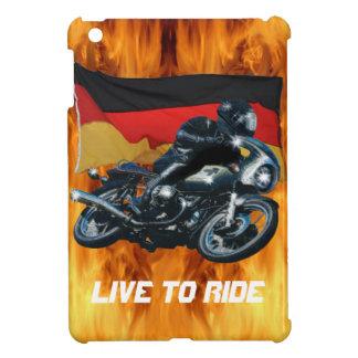 Jinete alemán de la bandera y de la moto iPad mini fundas