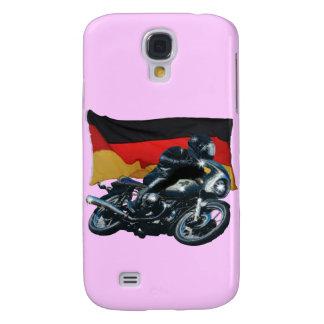 Jinete alemán de la bandera y de la moto funda para galaxy s4
