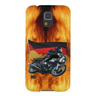 Jinete alemán de la bandera y de la moto fundas de galaxy s5