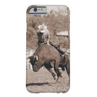 Jinete alrededor a caerse de toro bucking funda para iPhone 6 barely there