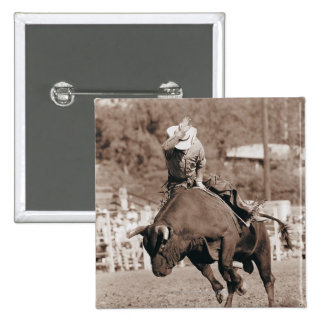Jinete alrededor a caerse de toro bucking pin cuadrada 5 cm