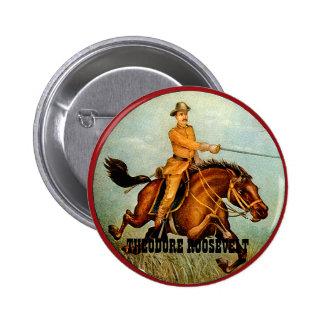 Jinete áspero - botón pin redondo de 2 pulgadas