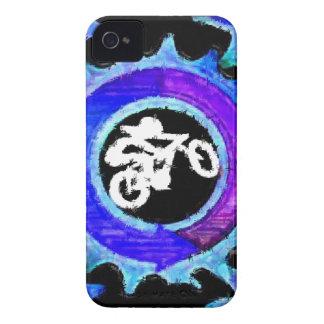 Jinete azul maravilloso de la bici funda para iPhone 4 de Case-Mate