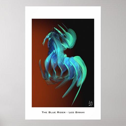 jinete azul póster